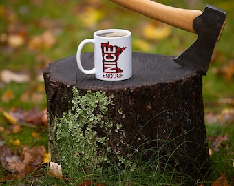 Minnesota Nice Enough 11 oz Plaid Mug