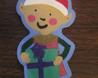 Hand Painted Elf Christmas Ornament Decor