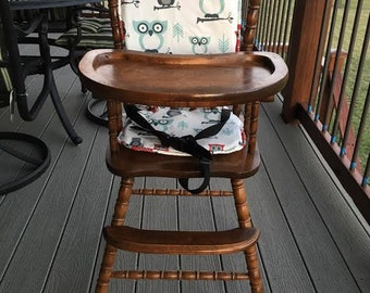 High chair cushion / wooden high chair pad/highchair cover / highchair cushion / highchair pad / vintage/ Owl.