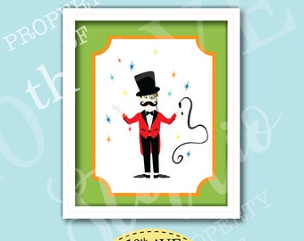 Carnival Circus Ringmaster 8x10 Instant Download Print Your Own Wall Art