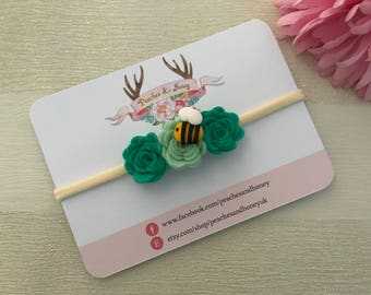 bumble bee flower crown