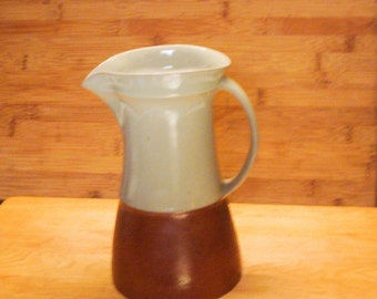 Pitcher Stoneware Mid Century Two Tone Hors Serie
