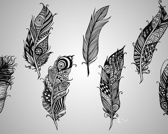 Feather/ Feather SVG/ Printable files/ Silhouette files/ Vector/ Cuttable files/ digital dowload