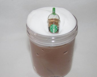 cappuccino starbucks coffee frappuccino inspired slime party favors stress relief charm included scented 40 fragrance scents to choose from