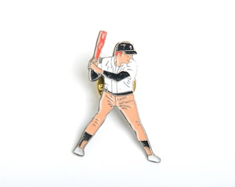 Baseball enamel pin, backpack pin, pin collector, enamel pin, sport fan badge, player enamel pin, sport fan pin, sport fan gift