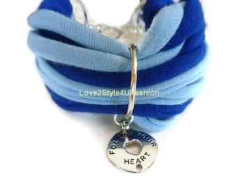 Jewelry, Charm Bracelet, Blue Bracelet, Hemp Bracelet, Cuff Bracelet, Women Bracelet, Bracelet for Women, Girlfriend Gift, Stacking Bracelet