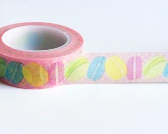French Macaron washi tape macaron planner sticker tape macaroon washi tape