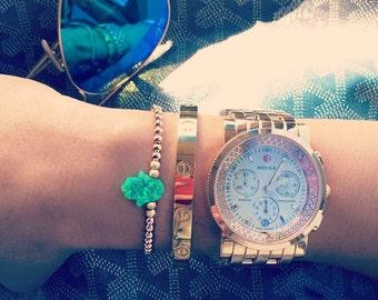 Opal Hamsa bracelet, Gold Hamsa Bracelet, Rose Gold Bracelet, Hamsa Bracelet, Jewelry gift, Gift for her, Dainty Bracelet, Mother's Day Gift