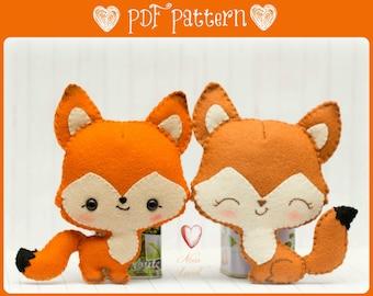 Foxes in love (PDF Pattern)