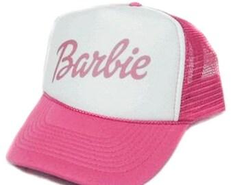 Barbie Trucker Hat Mesh Hat  Snap Back Hat YOU CHOOSE COLOR hat!