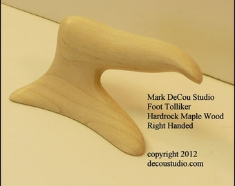 Built-To-Order, Hat Making Tool Foot Tolliker New Millinery Creasing Brim Crown Shaping Right Handed Hardrock Maple Wood