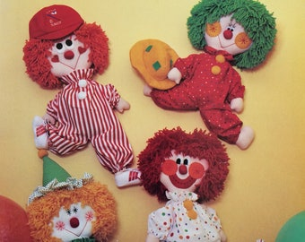Soft Clowns - vintage 1980s pattern book by Dumplin Designs