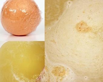 SunnySide Up Bath Bomb- citrus bath bomb- orange bath bomb- lime blend scent- mandarin scent