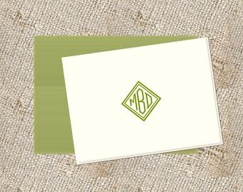 Personalized Stationery  - 25 folded notes & envelopes
