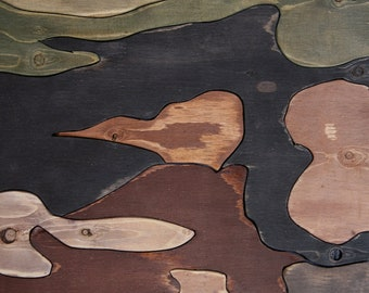My Wood Art Puzzle 2: WAITING in LINE, 24x36 inches, Hand painted and sawed, One of a Kind