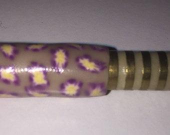 Handmade glow in the dark one hitter smoking bat dugout , flowers