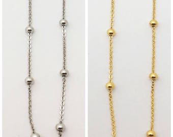 Vermeil Silver and gold balls necklace