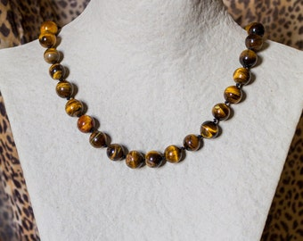 Tiger's Eye Knotted Necklace