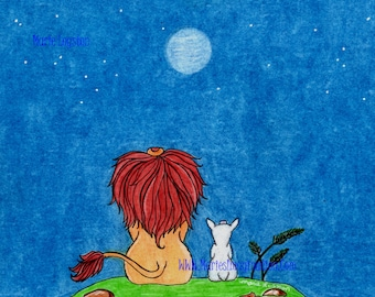 Lion and the Lamb/Moon Greeting Cards - Note Cards. Includes White Envelopes. Blank Inside.