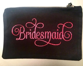 Personalised Wedding Party Role Make Up Bag