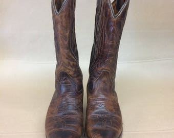 Vintage brown leather cowboy boots 6US womens