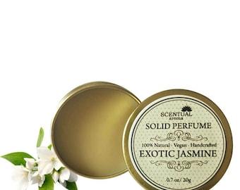 Jasmine Solid Perfume, Organic Jasmine Perfume Bar, Vegan Perfume, Natural Perfume, Gift Idea