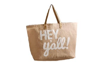 Hey Y'all Sequin Tote