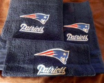 New England Patriots Football Towel Set Personalized
