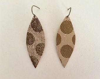 Metallic Leather Earrings