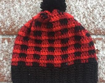 Crochet Plaid Hats
