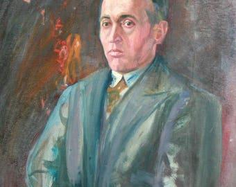 European art oil painting portrait man