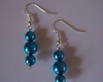 Earrings dangle turquoise and fancy