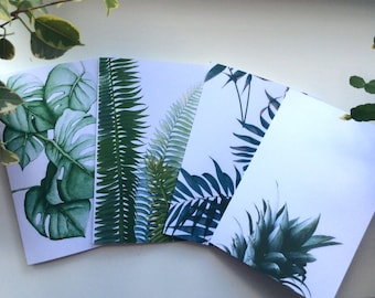 Travelers Notebook Set - 4 Inserts Tropical pattern, Regular Size  Field Note A6  A5 B6 Dot Grid Lined Grid Blank Ruled Pattern on the cover