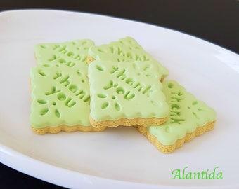 Handmade Fake Cookies Set of 5 Faux Cookies Thank You Cookie Photography Prop Fake Cookie Faux Cookie