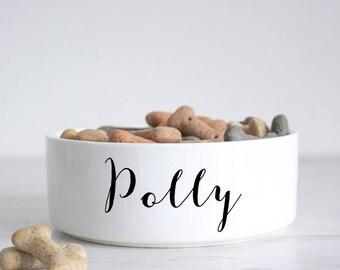 Name Pet Bowl - Dog Bowl - Personalised dog bowl - custom cat bowl - ceramic dog bowl - personalized pets - pet gift - P40