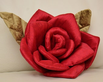 Flower Pillow Red