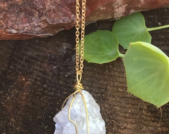 Grey Calcite Gold Layering Necklace