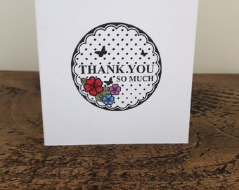 Hand stamped thankyou cards