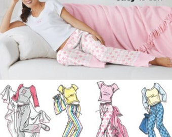 SLEEPWEAR Sewing Pattern Easy Pants Tops Slippers Bag Blanket 5923