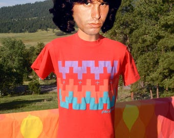 vintage 80s tee TAOS new mexico native american indian pueblo art t-shirt Medium