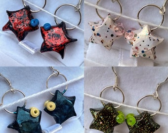 Earrings Origami star fish • ijkl ⋆