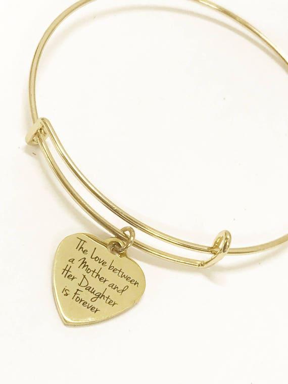 Mother Daughter Bracelet, The Love Between A Mother And Her Daughter Is Forever Bracelet, Gift For Mom, Gift For Daughter, Daughter Gift