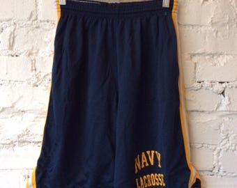 Vintage Navy Lacrosse Shorts / Size Small / Naval Academy / 90s 1990s / Retro / Midshipmen / Athletic