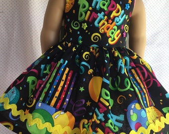 """BIRTHDAY PARTY DRESS Fits American Girl and Other 18"""" Dolls"""