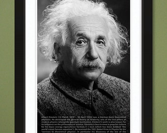 12x18 Albert Einstein – Portrait