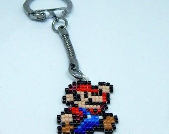 8-bit Mario keychain