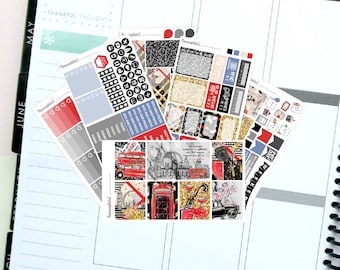 """City Life/Fashion/Travel """"Hello London""""  Themed Planner Stickers for Erin Condren, Kikki K, Filofax, Happy Planner, Websters Pages"""