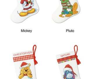 Dimensions Cross Stitch Kit - Mickey, Pluto, Winnie The Pooh, Eeyore Stocking