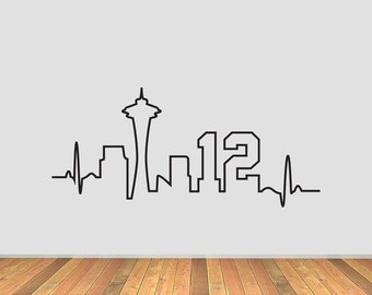 Seattle Skyline Heartbeat with 12
