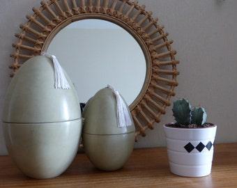 Tadelakt egg shaped box